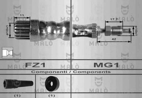 MALO 8533 Тормозной шланг