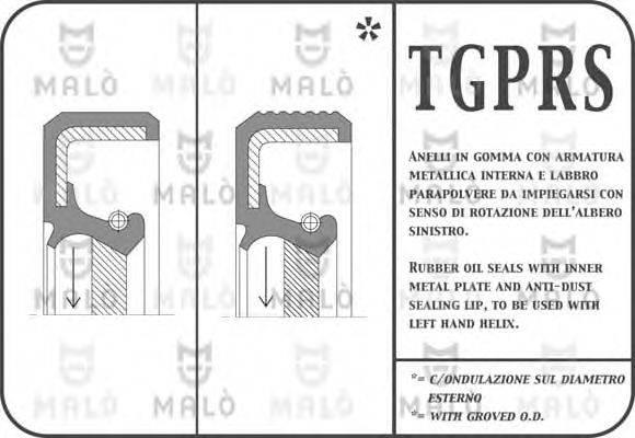 MALO 995PRSF Уплотняющее кольцо, коленчатый вал