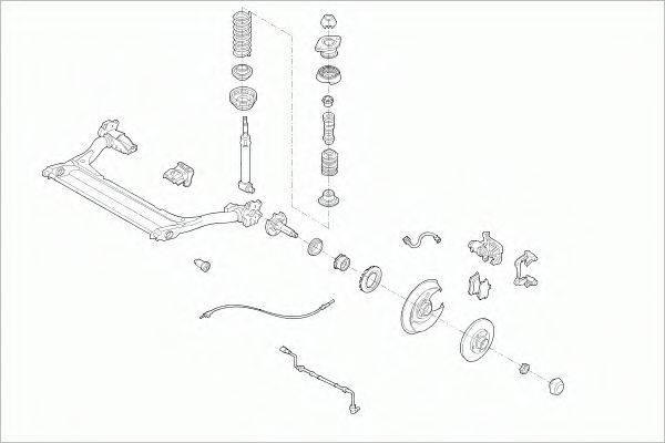 SACHS AUDIA4RS003 Рулевое управление; Подвеска колеса
