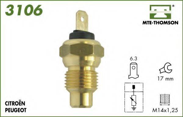 MTE-THOMSON 3106 Датчик, температура охлаждающей жидкости