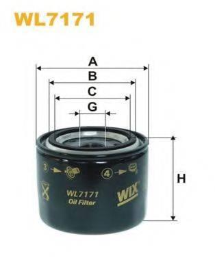 WIX FILTERS WL7171 Масляный фильтр