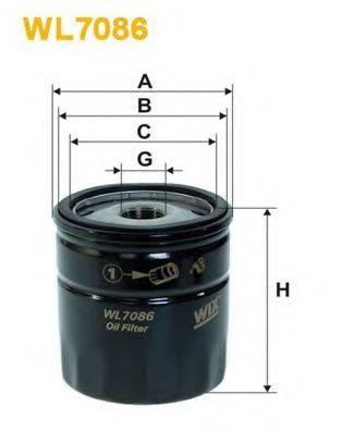 WIX FILTERS WL7086 Масляный фильтр