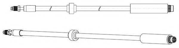 CEF 510897 Тормозной шланг