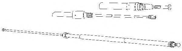 CEF PU02236 Трос, стояночная тормозная система
