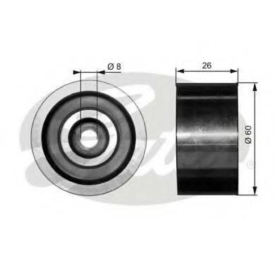 GATES T36076 Паразитный / ведущий ролик, поликлиновой ремень