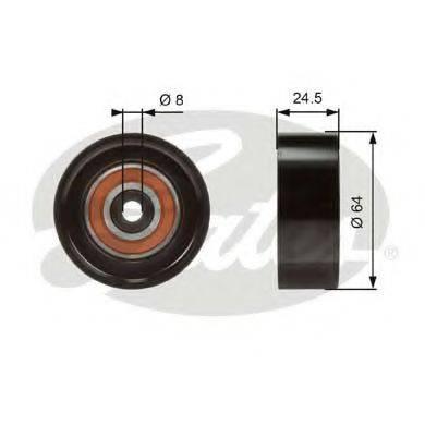 GATES T38097 Паразитный / ведущий ролик, поликлиновой ремень