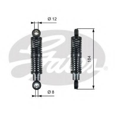 GATES T39265 Амортизатор, поликлиновой ремень