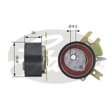 GATES T43089 Натяжной ролик, ремень ГРМ