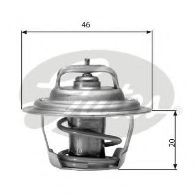 Термостат, охлаждающая жидкость GATES TH02791G1