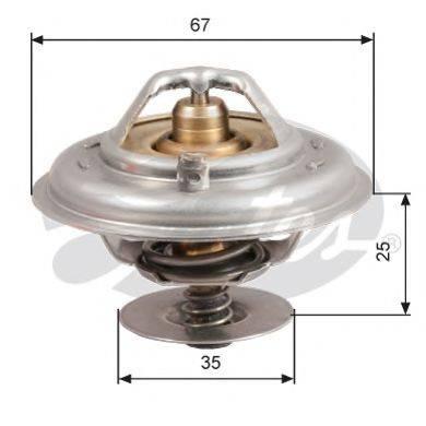 GATES TH14392G1 Термостат, охлаждающая жидкость