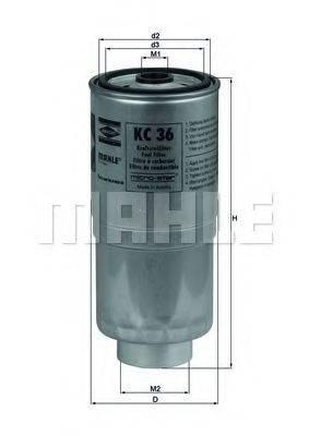 Топливный фильтр KNECHT KC 36