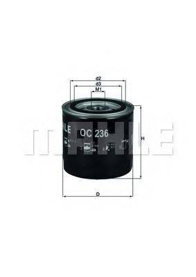 Масляный фильтр KNECHT OC 236