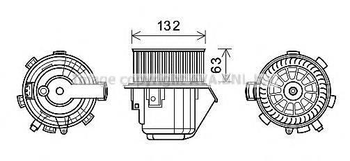 PRASCO CN8298 Электродвигатель, вентиляция салона