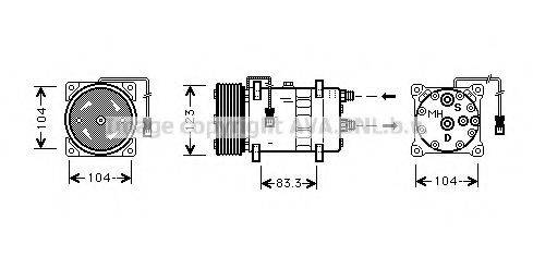 PRASCO CNK023 Компрессор, кондиционер