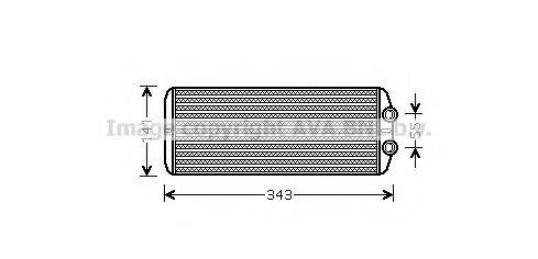 PRASCO PEA6311 Теплообменник, отопление салона