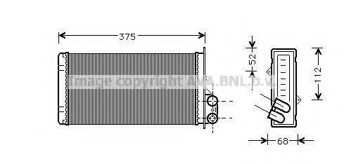 PRASCO RT6226 Теплообменник, отопление салона
