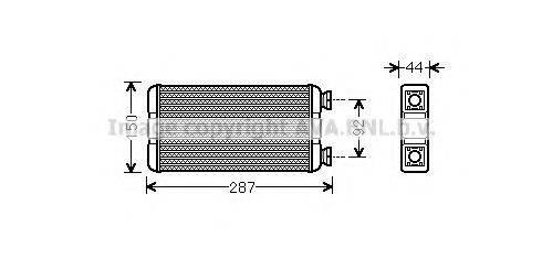 PRASCO RT6457 Теплообменник, отопление салона