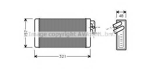 PRASCO AI6052 Теплообменник, отопление салона