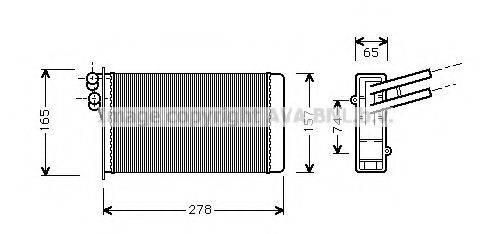 PRASCO AI6097 Теплообменник, отопление салона