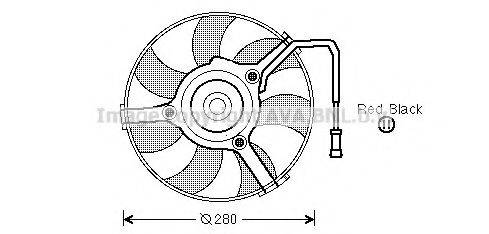 PRASCO AI7504 Вентилятор, охлаждение двигателя