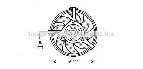 PRASCO AI7510 Вентилятор, охлаждение двигателя
