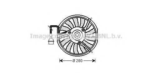 PRASCO AI7511 Вентилятор, охлаждение двигателя