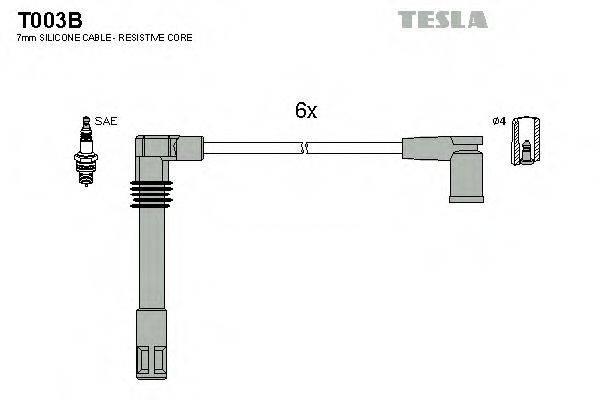 TESLA T003B Комплект проводов зажигания