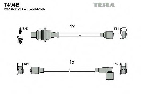 TESLA T494B Комплект проводов зажигания
