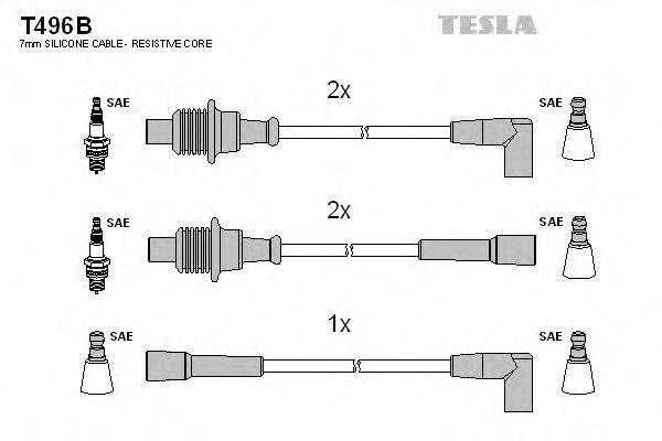 TESLA T496B Комплект проводов зажигания