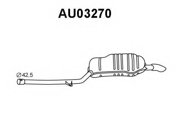 VENEPORTE AU03270 Глушитель выхлопных газов конечный
