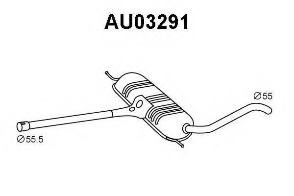 VENEPORTE AU03291 Предглушитель выхлопных газов