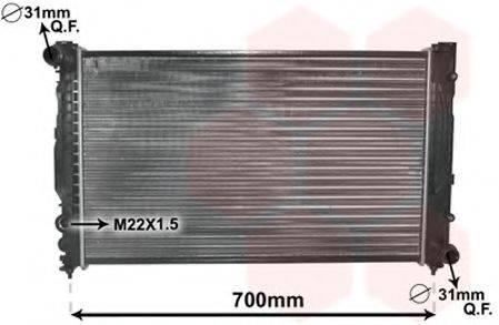VAN WEZEL 03002124 Радиатор, охлаждение двигателя