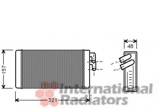VAN WEZEL 03006052 Теплообменник, отопление салона