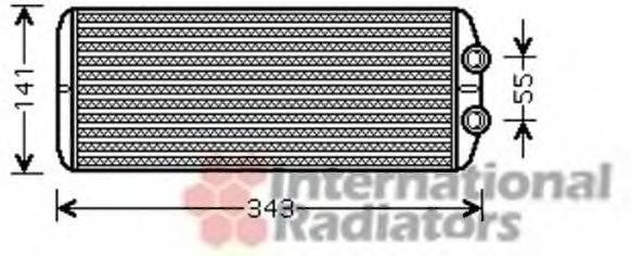 VAN WEZEL 40006311 Теплообменник, отопление салона