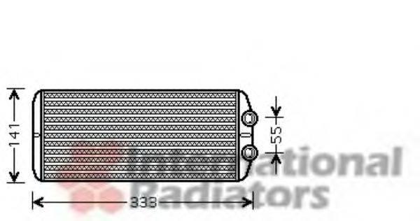 VAN WEZEL 40006312 Теплообменник, отопление салона