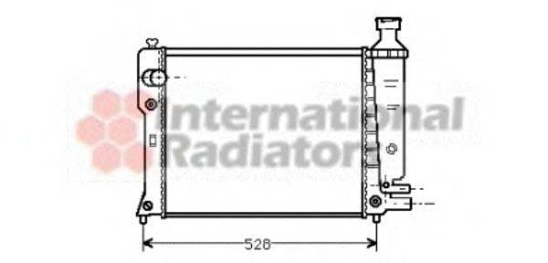 VAN WEZEL 40002092 Радиатор, охлаждение двигателя