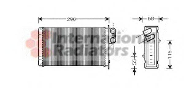 VAN WEZEL 40006100 Теплообменник, отопление салона