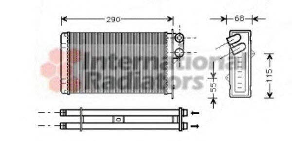 VAN WEZEL 40006172 Теплообменник, отопление салона