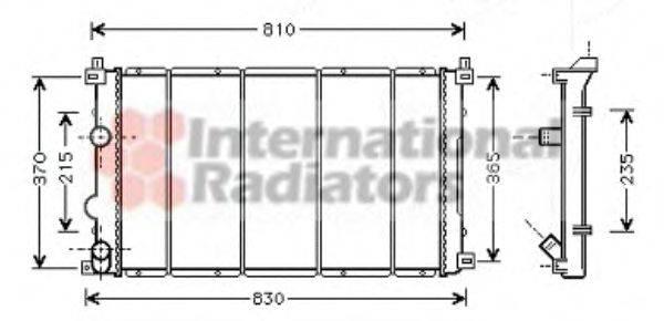 VAN WEZEL 43002361 Радиатор, охлаждение двигателя