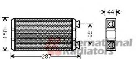 VAN WEZEL 43006457 Теплообменник, отопление салона