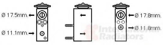 VAN WEZEL 09001275 Расширительный клапан, кондиционер