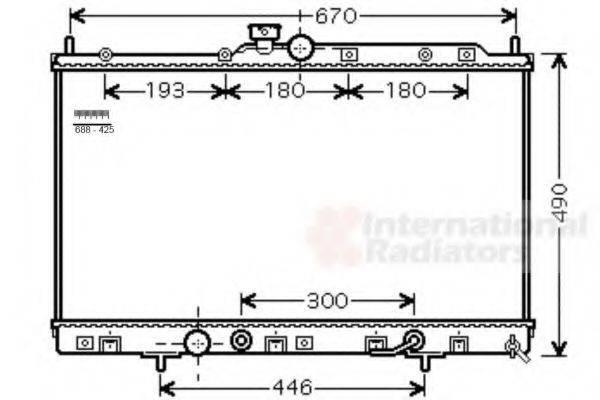 VAN WEZEL 32002230 Радиатор, охлаждение двигателя