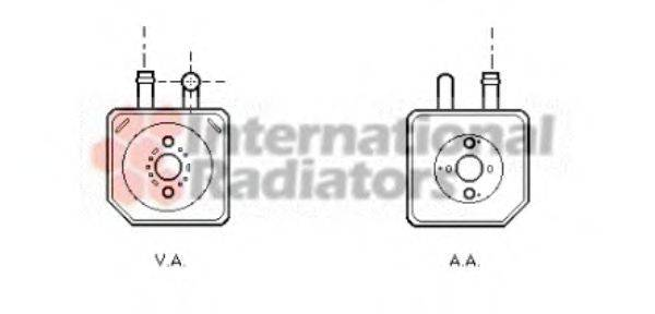 VAN WEZEL 58003082 масляный радиатор, двигательное масло