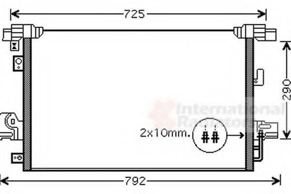 VAN WEZEL 32005210 Конденсатор, кондиционер