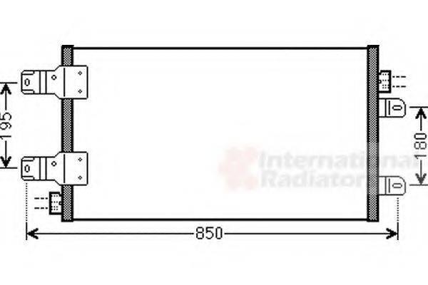 VAN WEZEL 43005443 Конденсатор, кондиционер