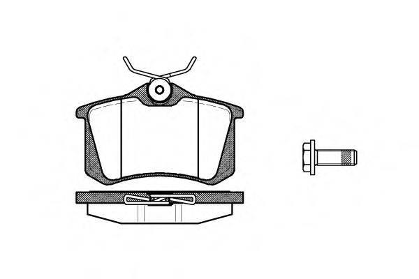 WOKING P363305 Комплект тормозных колодок, дисковый тормоз