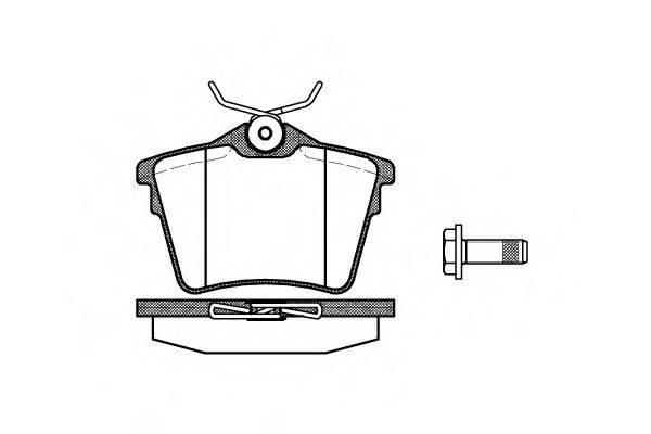 WOKING P1003300 Комплект тормозных колодок, дисковый тормоз