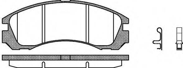 WOKING P254332 Комплект тормозных колодок, дисковый тормоз