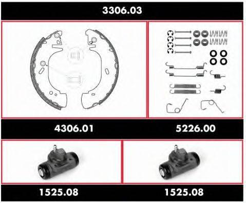 WOKING 330603 Комплект тормозов, барабанный тормозной механизм
