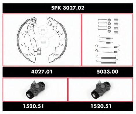 WOKING SPK302702 Комплект тормозов, барабанный тормозной механизм